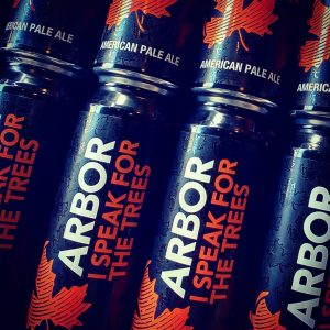 1 pint cans are in from @arbor.ales with...I SPEAK FOR THE ...