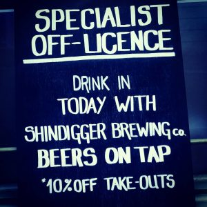 @shindiggerbrewingco are with us this afternoon. Beers on ta...