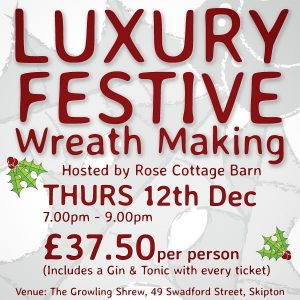 Come & make a luxury wreath with us under the expert guidanc...