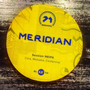 First of many new beers coming... MERIDIAN v2 // @71brewing ...