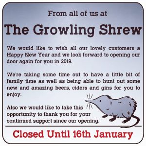 Happy New Year! #growlingshrew . . . . #bottleshop #skipton ...
