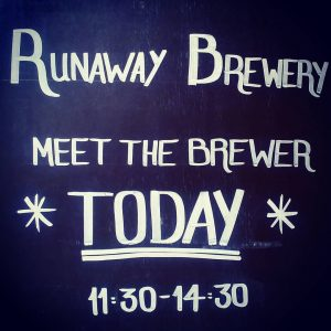 Special Guests in the shop today. @runawaybrewery are here a...