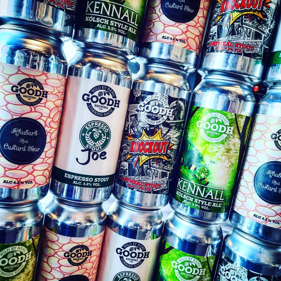Stack em up! Fresh delivery this morning from @goodhbrewco a...