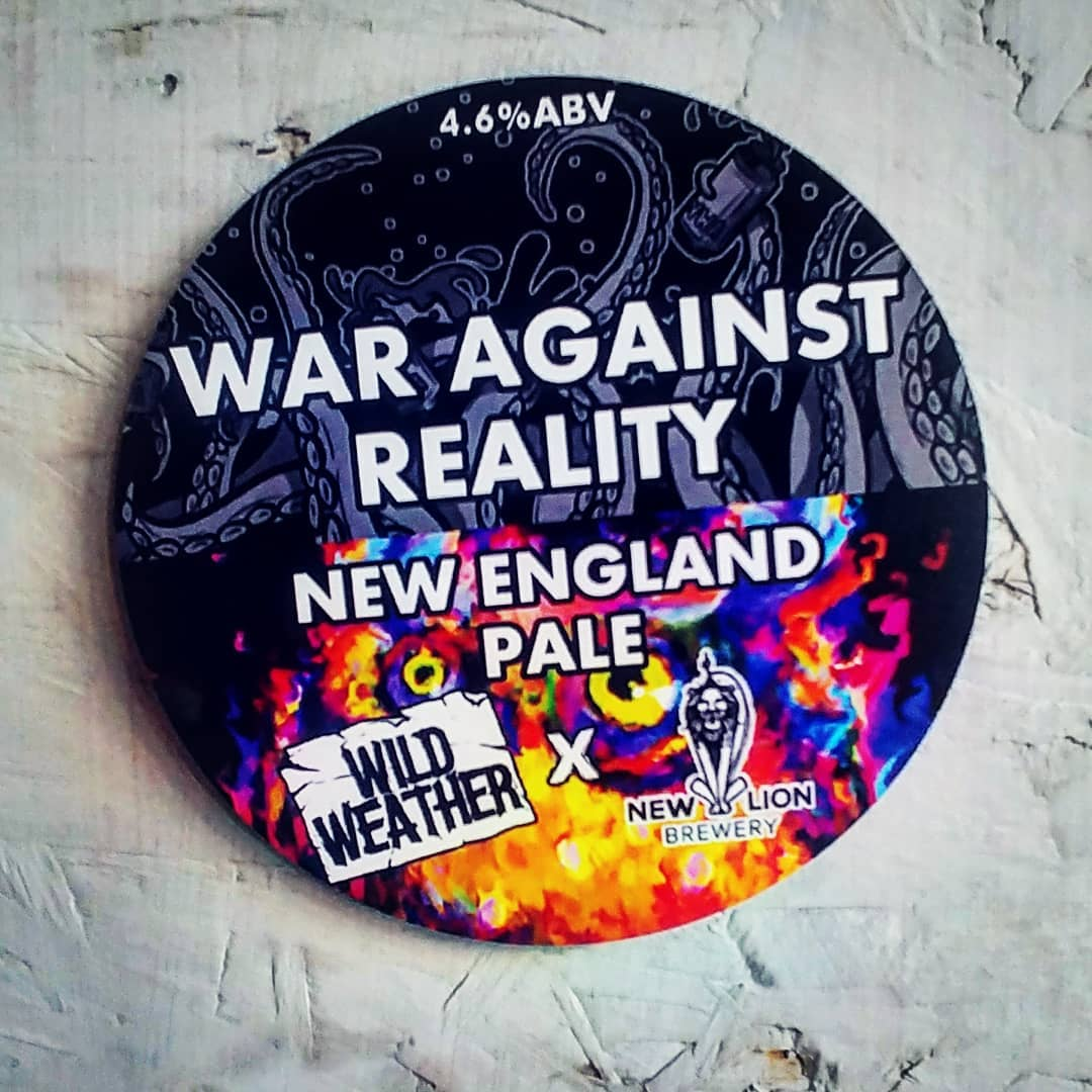 THE WAR AGAINST REALITY is here. New England Pale Ale from @...